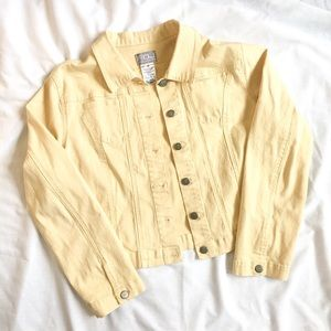 Vintage Yellow Button Jacket